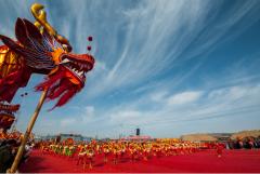 2018中国大同新荣得胜二月二舞龙盛会在得胜堡隆重举行