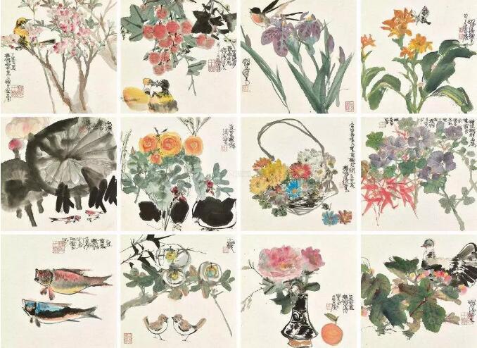 笔墨意趣,洒脱精湛,气韵生动 程十发花鸟画欣赏